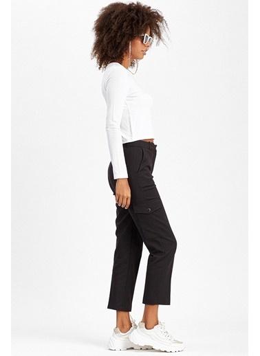 Manche Pantolon Siyah